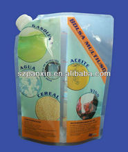 2012 hot sale!custom design liquid packaging plastic bag