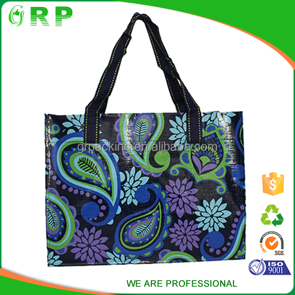 Different material shopping bag good shiny laminated shopper bag