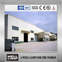 Above 8000 Square Meter Long-span Steel Constructure Factory Building Prefab Steel Structure Workshop Building In WELLCAMP