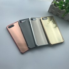 For iPhone 7 Case aluminium alloy PC Back Cover Clear Custom Phone Case for iPhone7 Plus Wholesale