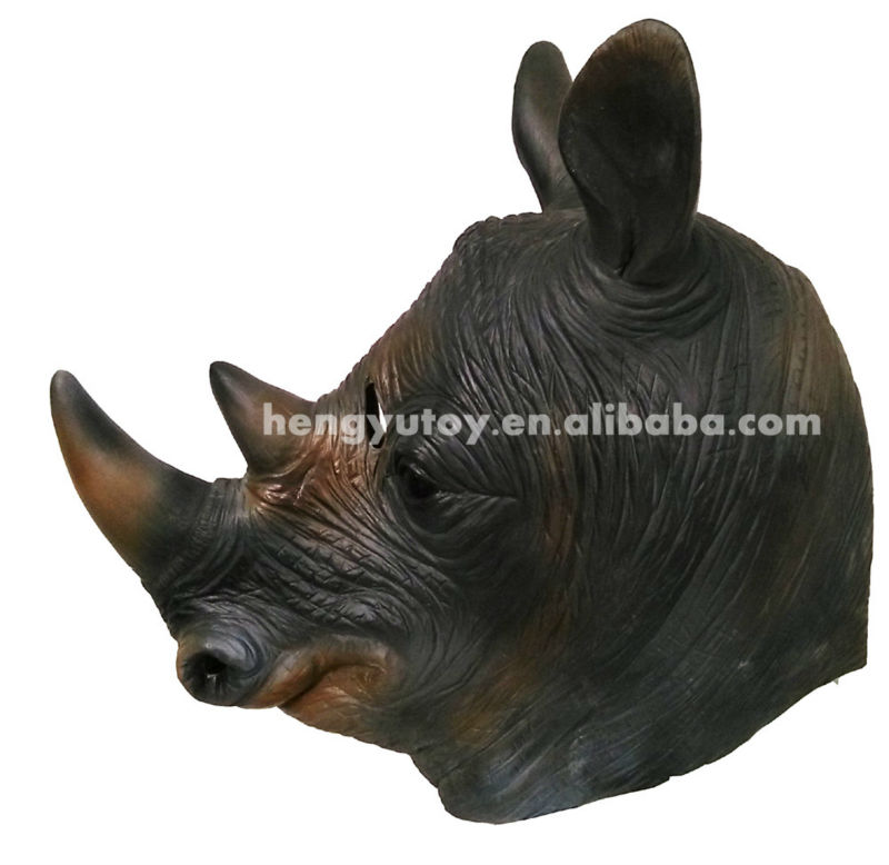 Adult Rhino Head Masks Full Head Latex Animal Masks for Party