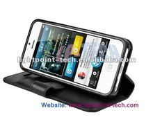 For iPhone 5 Flip leather case with stand