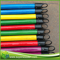 suyor 2016 cheap price pvc coted wooden broom handle for gardening tool