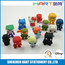 3D cartoon figure eraser in puzzle for Japanese import goods