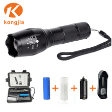 10W XML Led Aluminium Emergency Zoomable Flashlight High Power Led Torch 8000 Lumen Led Rechargeable FlashLight