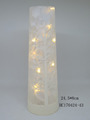 Christmas gift tube with LED string light for home decorations