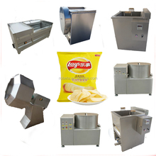 small scale frying potato chips making machine price/industrial food processing machine
