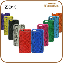 real python skin leather case for iphone 6s plus / iphone 6 s python skin case