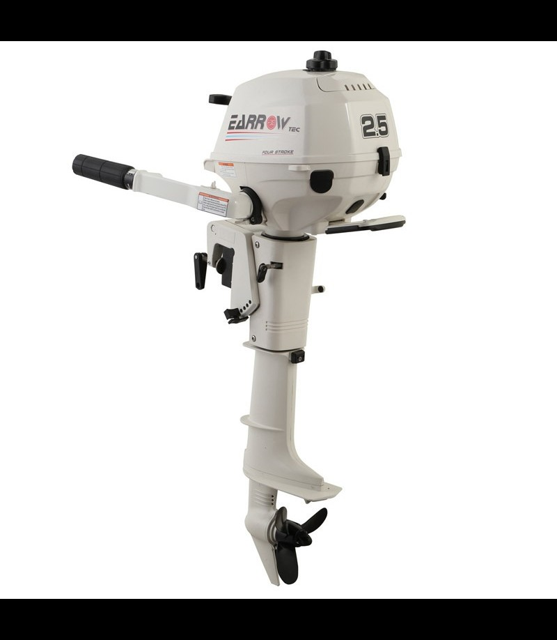 Outboard motor 4 stroke 2 5 hp gasoline earrow buy for Oil to gas ratio for johnson outboard motors