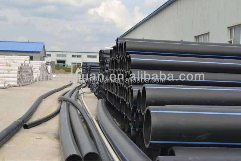 Plastic HDPE pipe 100% pure and new raw material HDPE pipe for water supply