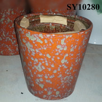 Peacock orange ceramic chaozhou flower pot