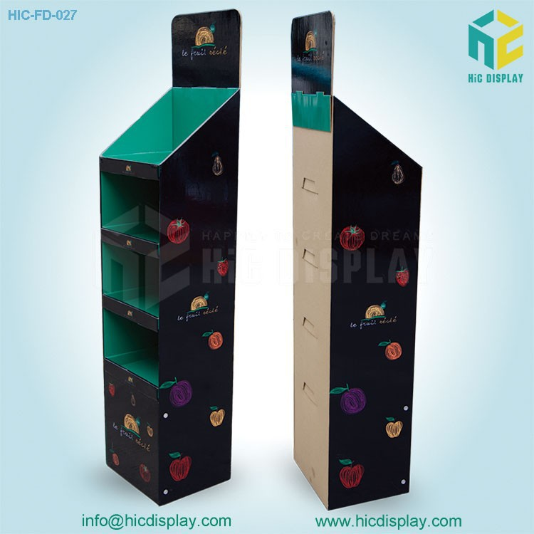 point of sale cardboard display &fruits and vegetable display,fruit vegetable display rack