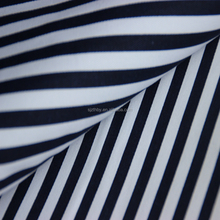 2016 fashion cotton navy blue and white stripe fabric
