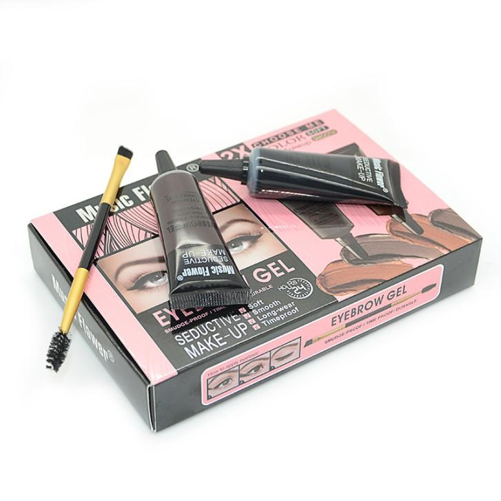 2 Color Eyebrow Gel Waterproof Eye Brow Gel Pro Beauty Makeup Eyebrow Enhancer With Brush