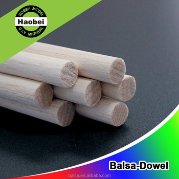 China manufacturer suppliers custom balsa wood round stick