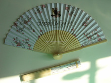 S123 - Bamboo paper Japanese fan