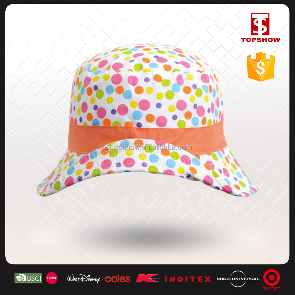 Fast delivery 100% cotton print wide brim bucket hat