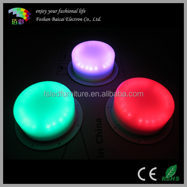 RGB lithium battery powered led light source/under table light