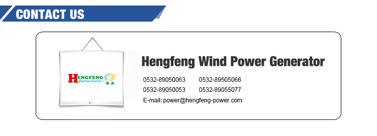 Horizontal axis wind turbine generator 5kw permanent magnet