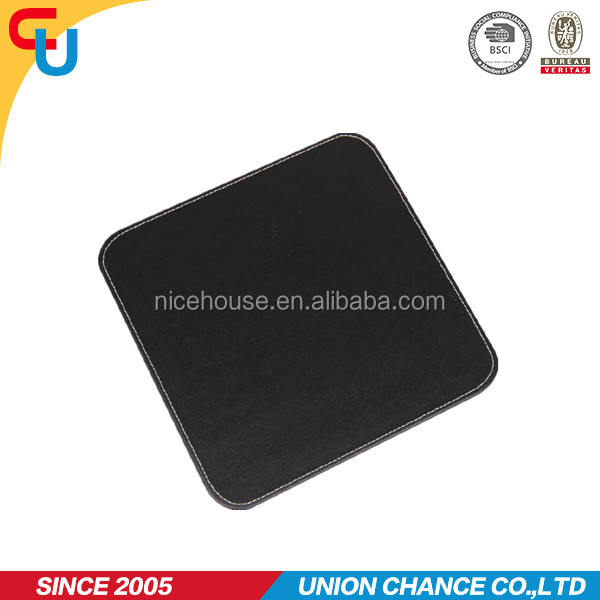 square shape pvc leather top quality mouse pad for desk organizer