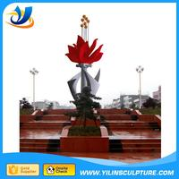 Metal Art large outdoor flower sculpture made in China