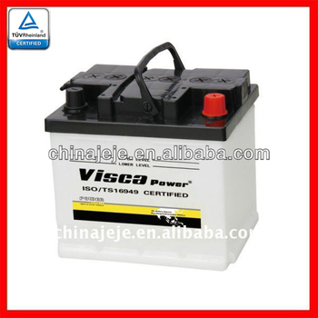 Reliable Quality 12V Lead Acid Starting Dry Charged Auto Battery 54017 12V40AH