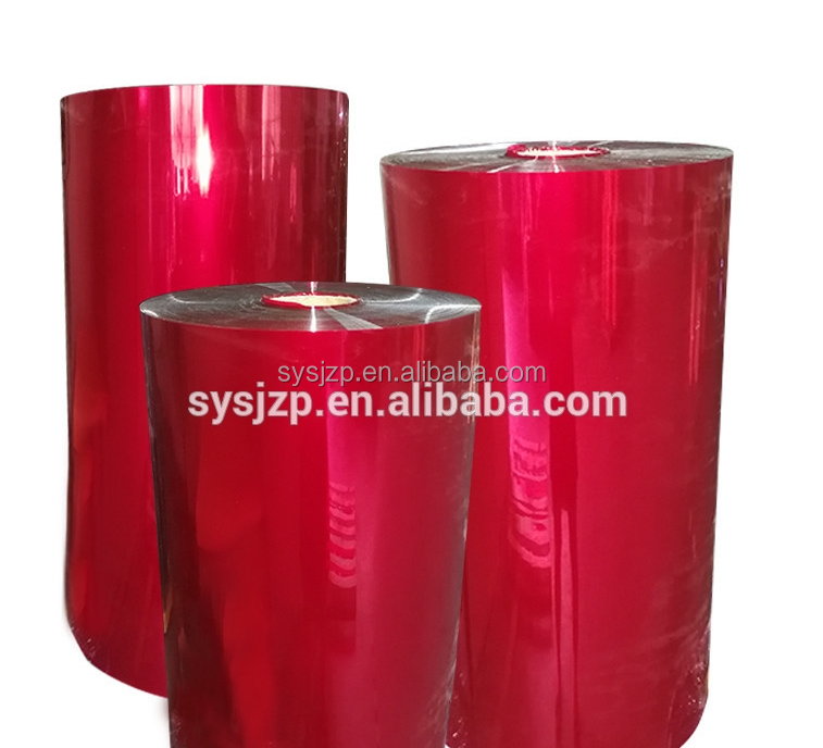 Red Metallized Color Rigid PET Plastic Sheet or film For Gift Packaging