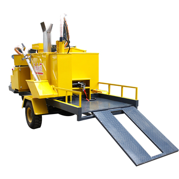 surface crack processing road seam repair machine sealant melting equipment with hot melt kettle