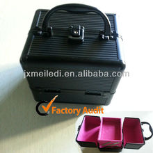 Fashional Small General Durable Cosmetics Tools Box Vanity Case Aluminum