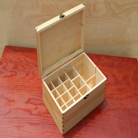 wooden essential oil storage box wood box