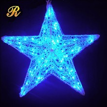 Waterpoof rope light 3D motif LED light Ramadan star hang decoration