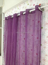 flocking voile curtain