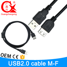 3 meter black color cooper conductor wholesale price v2.0 micro usb sd card extension cable