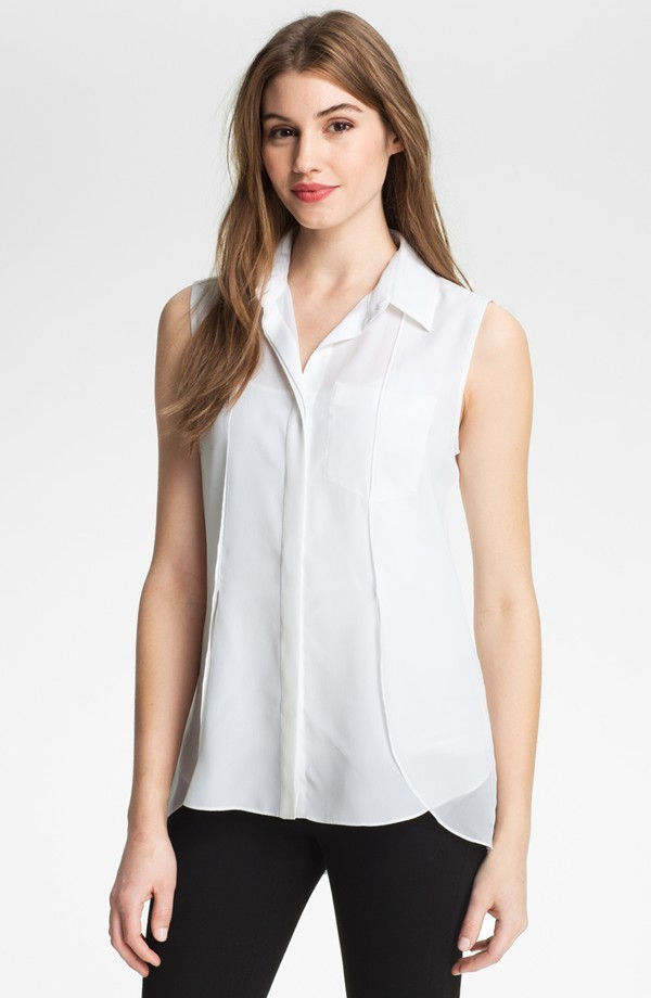 front short and long back blouse