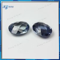 New things shaped oval 5*7mm 45# oval shape double checkerboard cut corundum blue sapphire prices of gems