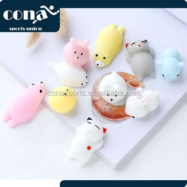 Wholesale Squishy Cat Soft Silicone Animal Squishy Toy Relieve Stress Fidget Hand Squeeze Pinch Toy
