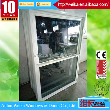 Single Sash Design Vertical Sliding Window Custom Built Aluminum Sash Windows Tilt-Wash Double-Hung Window