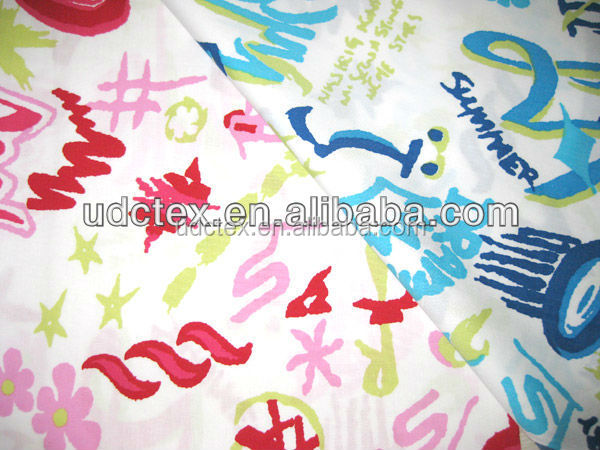 Custom printing cotton carded poplin fabric for garment