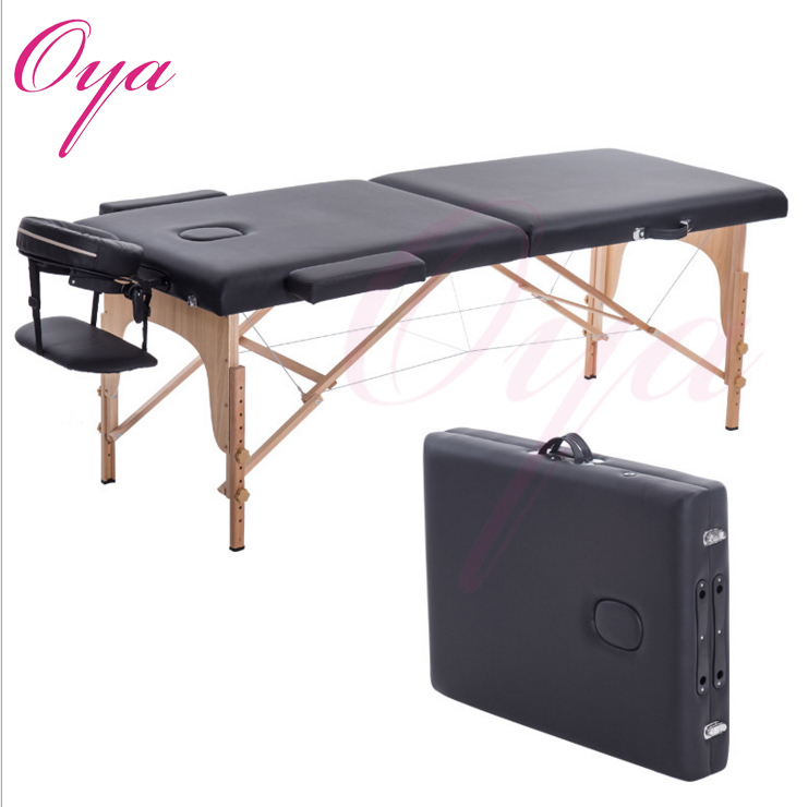 Portable lightweight easy carry folding massage bed