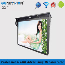 3G/network/wifi Android system 22 inch roof-fixed Bus/Taxi Advertising LCD TV Screen