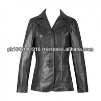 Lamb 3 Button Blazer Leather Jacket