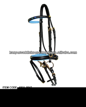 Rhinestone leather horse bridles