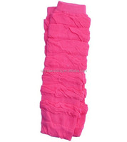 Solid Hot Pink Ruffle Leg Warmers/ Baby Leggings
