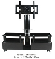 supply 2016 hot selling fashion style corner shelf lcd plasma glass tv stand and glass table model TV59