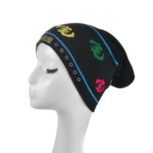 Custom jacquard embroidery beanie acrylic slouch knitted hats caps