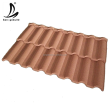 Nigeria Soncap Roofing Materials Competitive Price Color sand granules stone coated step metal roof tiles
