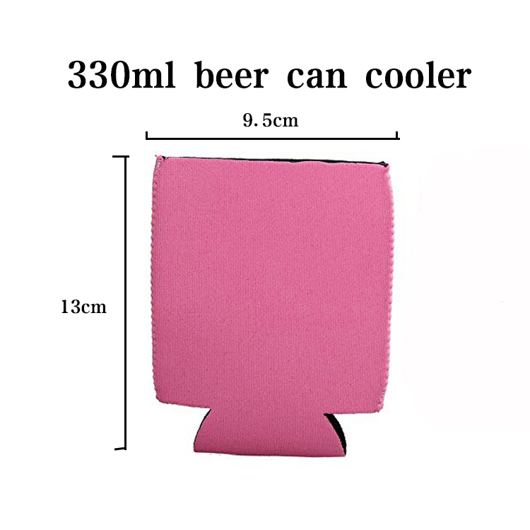 Foldable 3MM Neoprene Can Cooler Holder With Custom Logo Printing