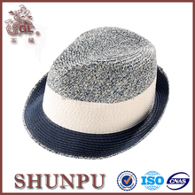 fashion man's sesame braid paper straw fedora hat