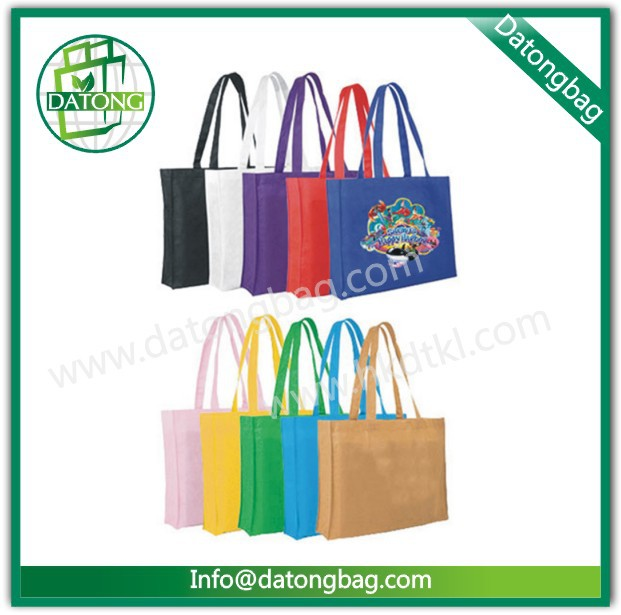 Long handle fashion lady bag wholesale lunch bag fancy shopping bag