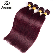 Hot sale 99j color original brazilian expression human hair 3 bundles red brazilian hair weave